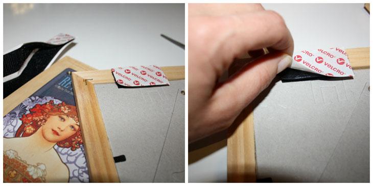 Cómo colgar un cuadro con velcro