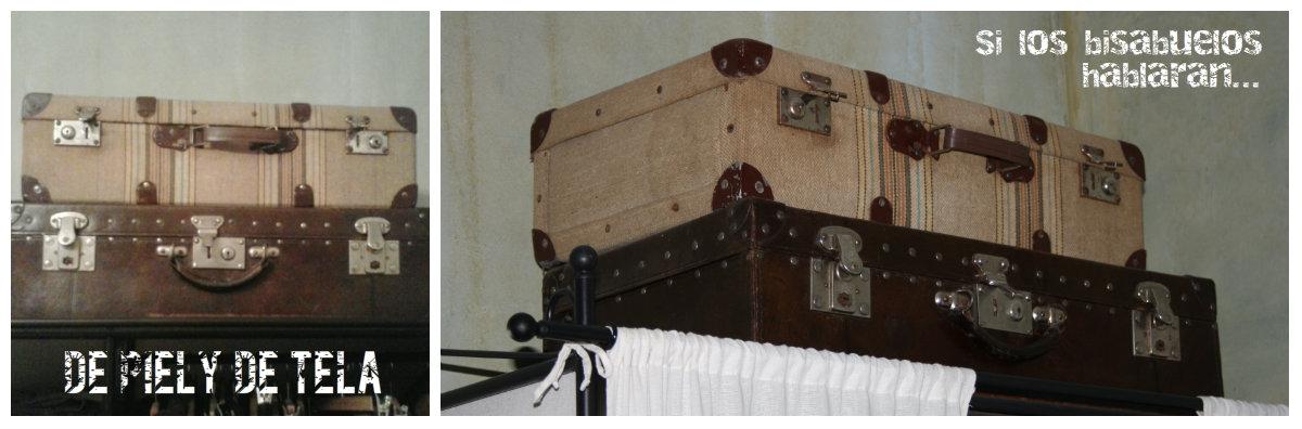 Utiliza las maletas en los altillos de los armarios