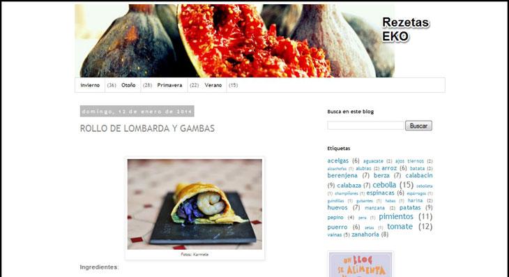 Blog de recetas ecológicas (Rezetas EKO)