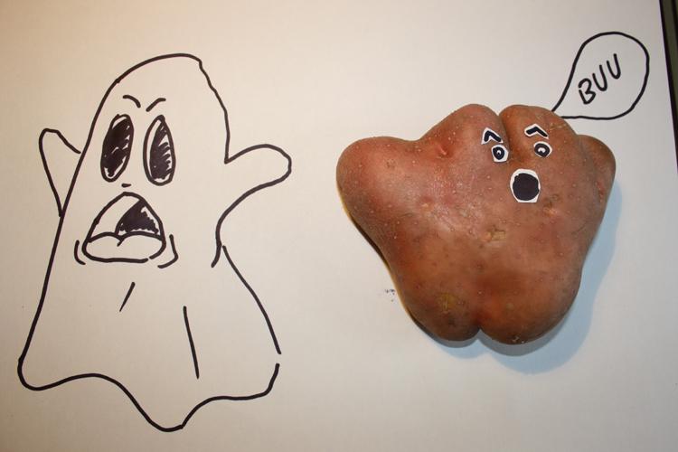 Patata con forma de fantasma