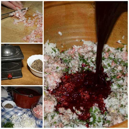 Ingredientes de la morcilla artesana de arroz